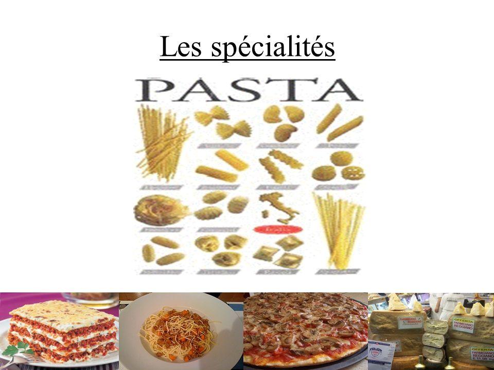 Les spécialités