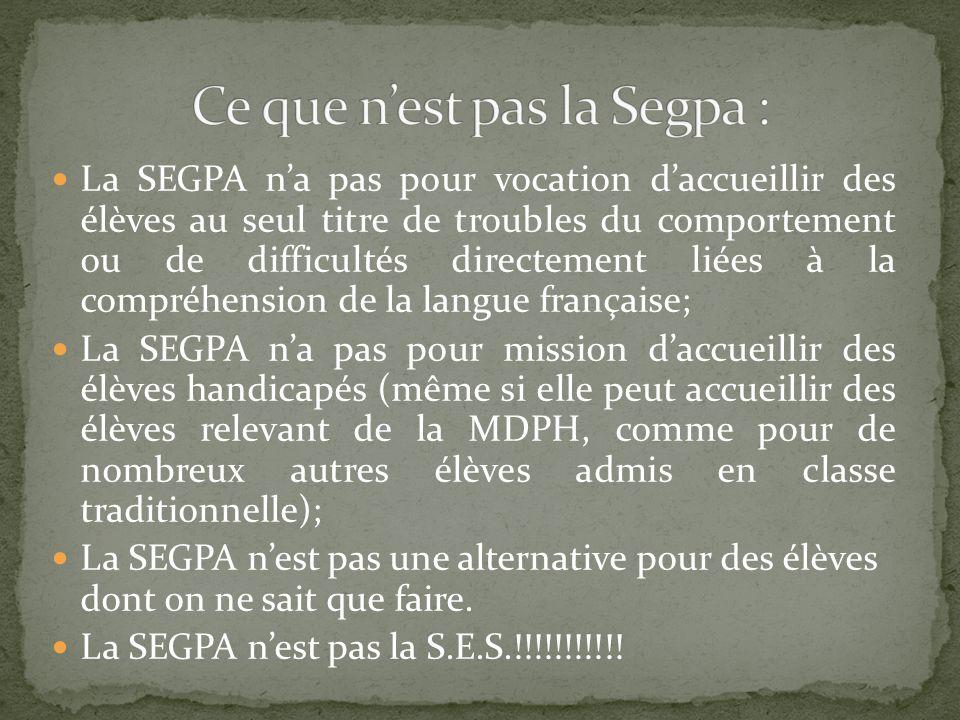 Les élèves à lissue de la 3 ème sont orientés majoritairement en Lycée Professionnel ; Sur le bassin de Dunkerque, une vingtaine de CAP est proposée aux élèves de Segpa.