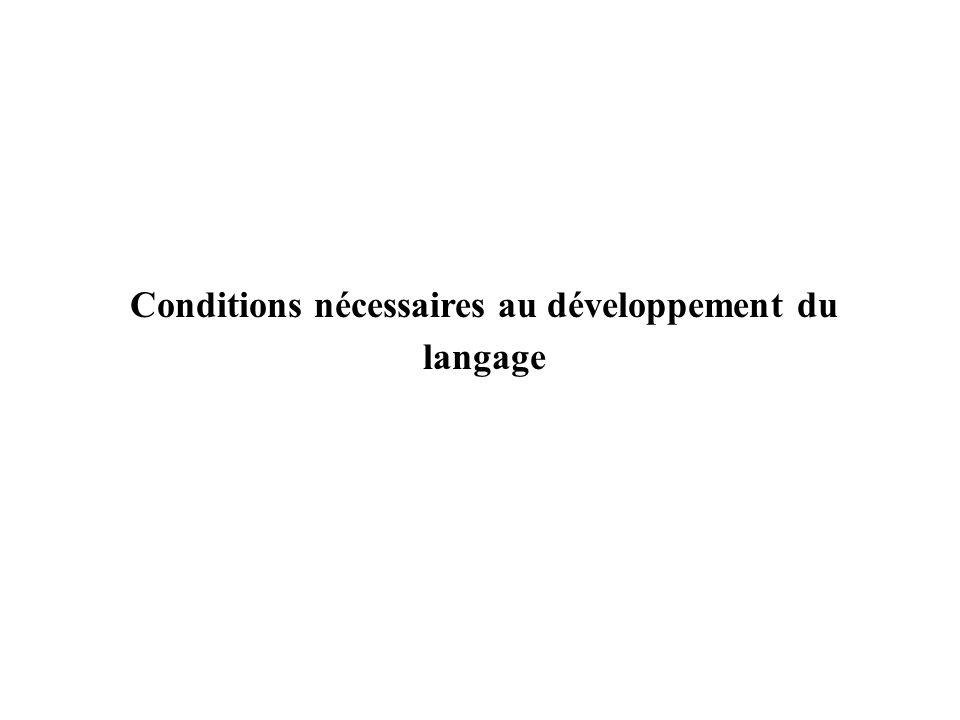 Conditions nécessaires au développement du langage