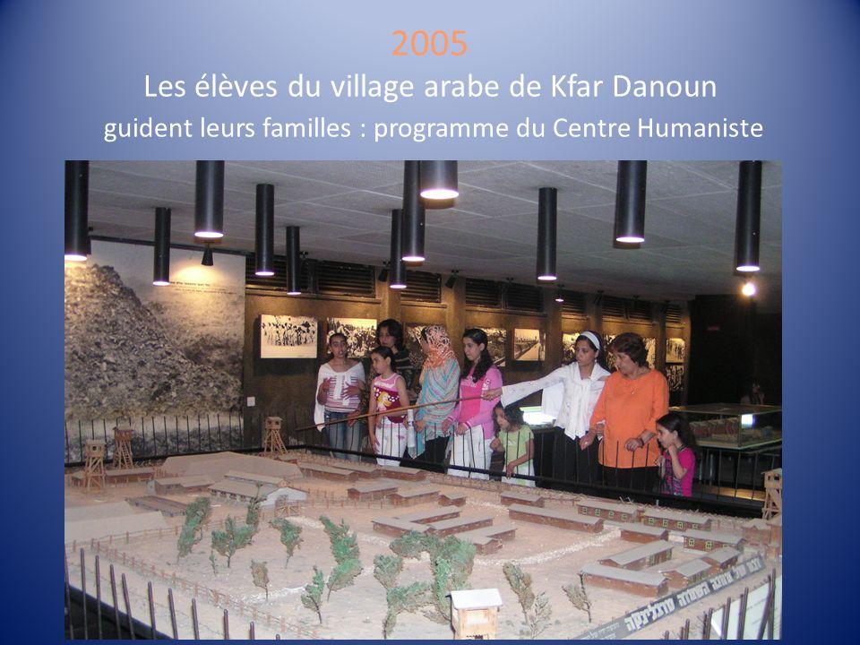 2005 Les élèves du village arabe de Kfar Danoun guident leurs familles : programme du Centre Humaniste