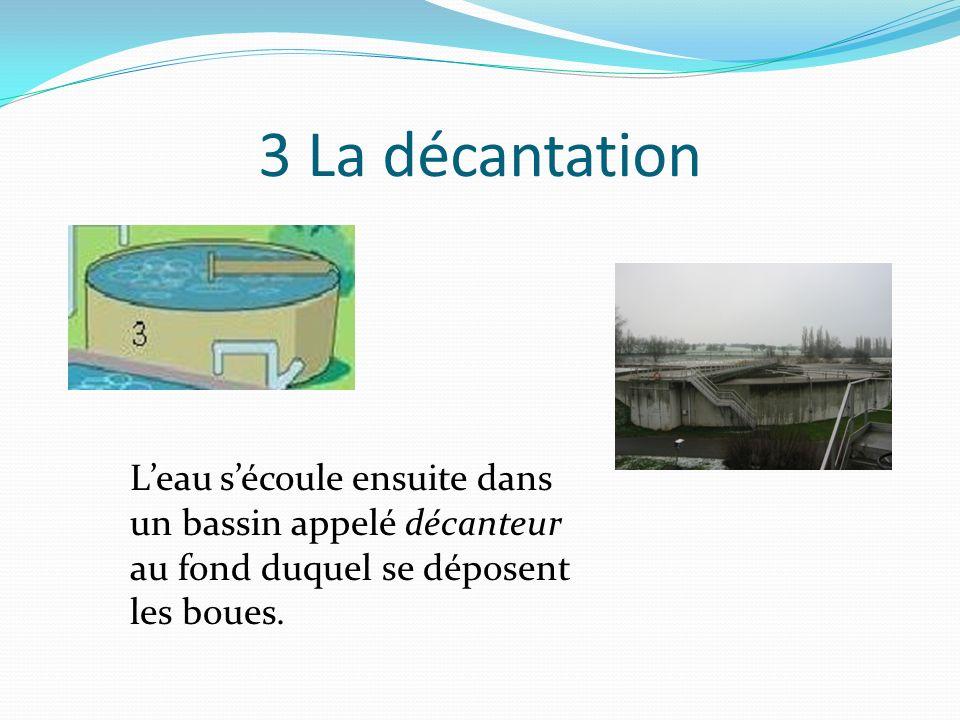 2 Le dessablage et le déshuilage- dégraissage Leau passe aussi dans un ouvrage où les huiles et graisses flottantes sont récupérées en surface.