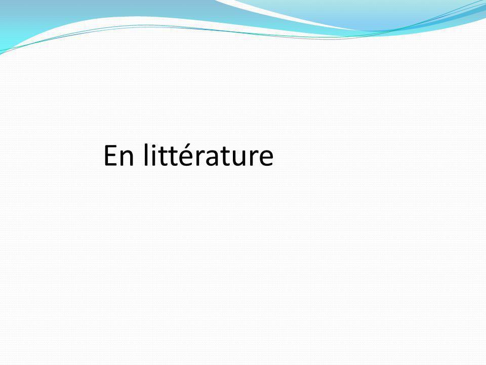 En littérature