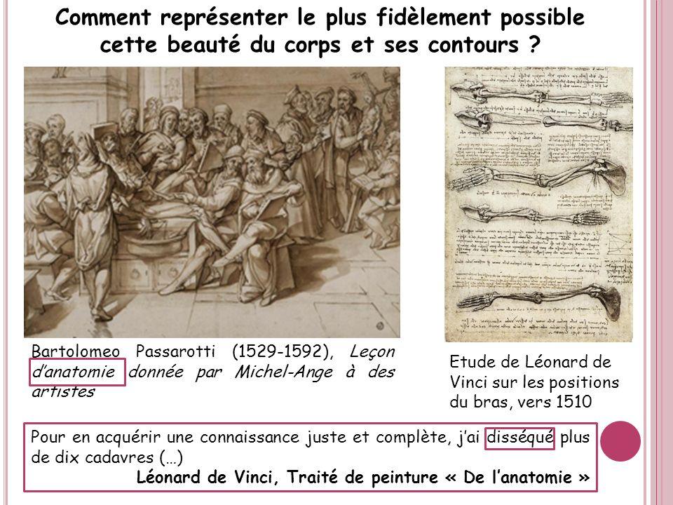 Bartolomeo Passarotti (1529-1592), Leçon danatomie donnée par Michel-Ange à des artistes Comment représenter le plus fidèlement possible cette beauté
