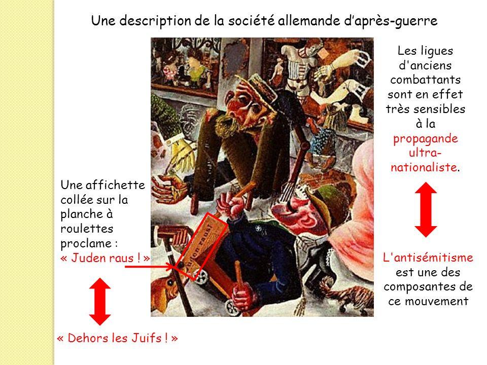 Une description de la société allemande daprès-guerre Une affichette collée sur la planche à roulettes proclame : « Juden raus ! » « Dehors les Juifs