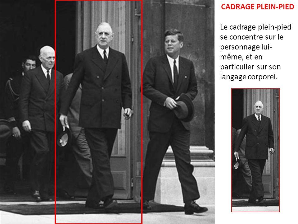 CADRAGE AMERICAIN Le plan dit américain montre une relation avec le personnage, en sorte que nous avons l illusion d être présents dans le plan, et de communiquer avec lui.