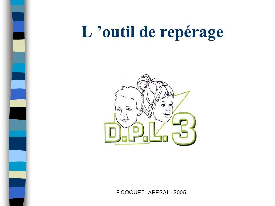 F COQUET - APESAL - 2005 L outil de repérage