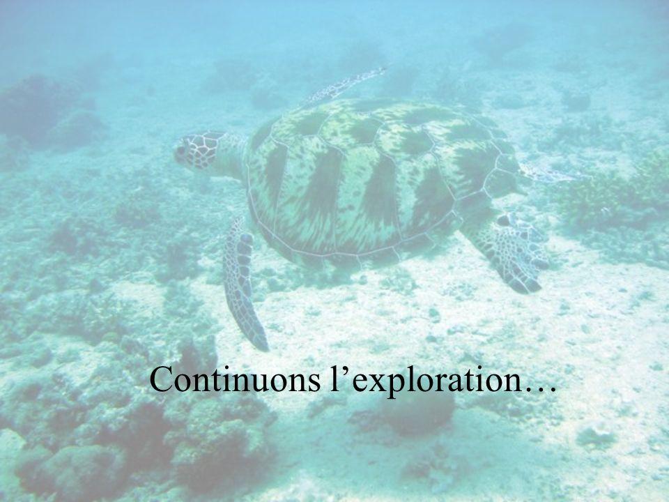 Continuons lexploration…