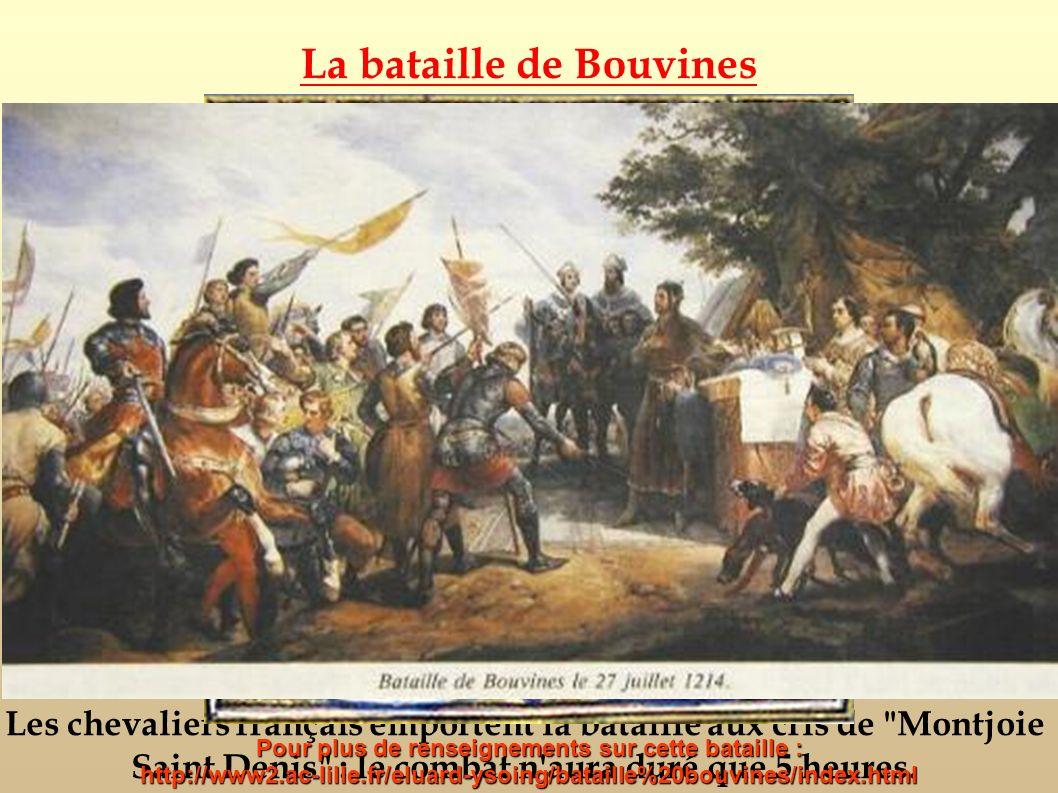 Les chevaliers français emportent la bataille aux cris de