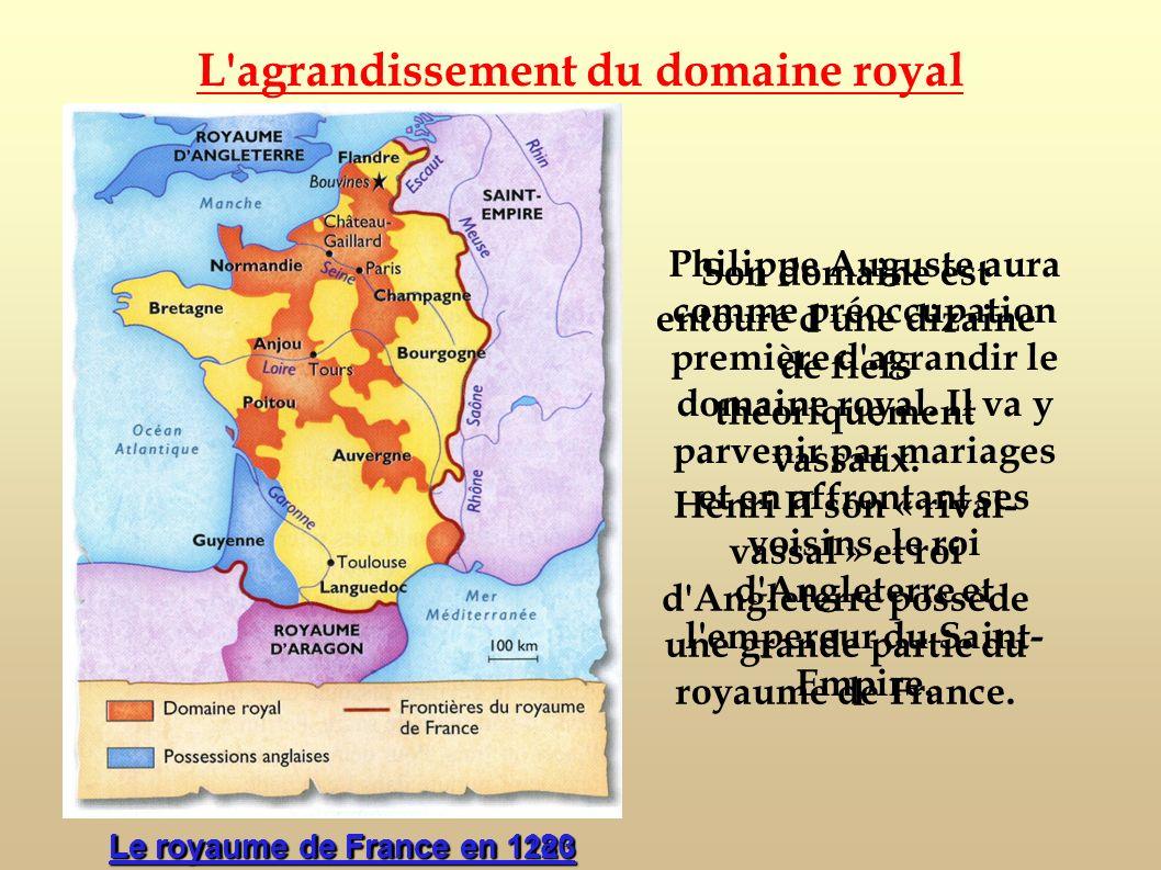 Son domaine est entouré d'une dizaine de fiefs théoriquement vassaux. Henri II son « rival- vassal » et roi d'Angleterre possède une grande partie du