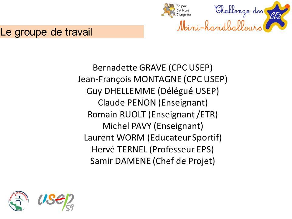 Le groupe de travail Bernadette GRAVE (CPC USEP) Jean-François MONTAGNE (CPC USEP) Guy DHELLEMME (Délégué USEP) Claude PENON (Enseignant) Romain RUOLT