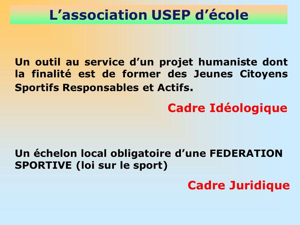Lassociation USEP décole Un outil au service dun projet humaniste dont la finalité est de former des Jeunes Citoyens Sportifs Responsables et Actifs.