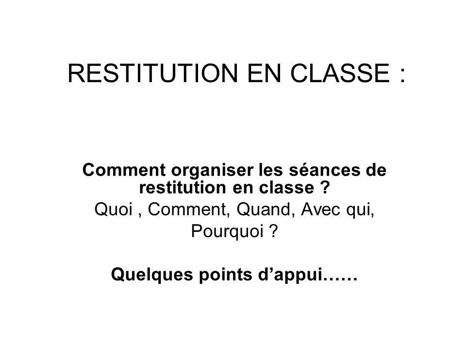 Dans quelle(s) classes(s) .–Toujours dans la même classe, le même lieu .