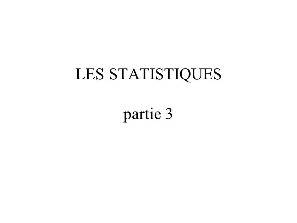 LES STATISTIQUES partie 3