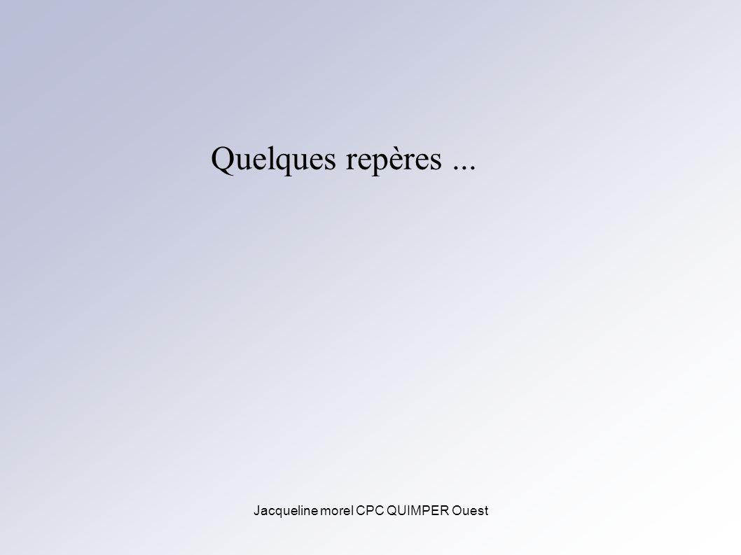 Jacqueline morel CPC QUIMPER Ouest Quelques repères...