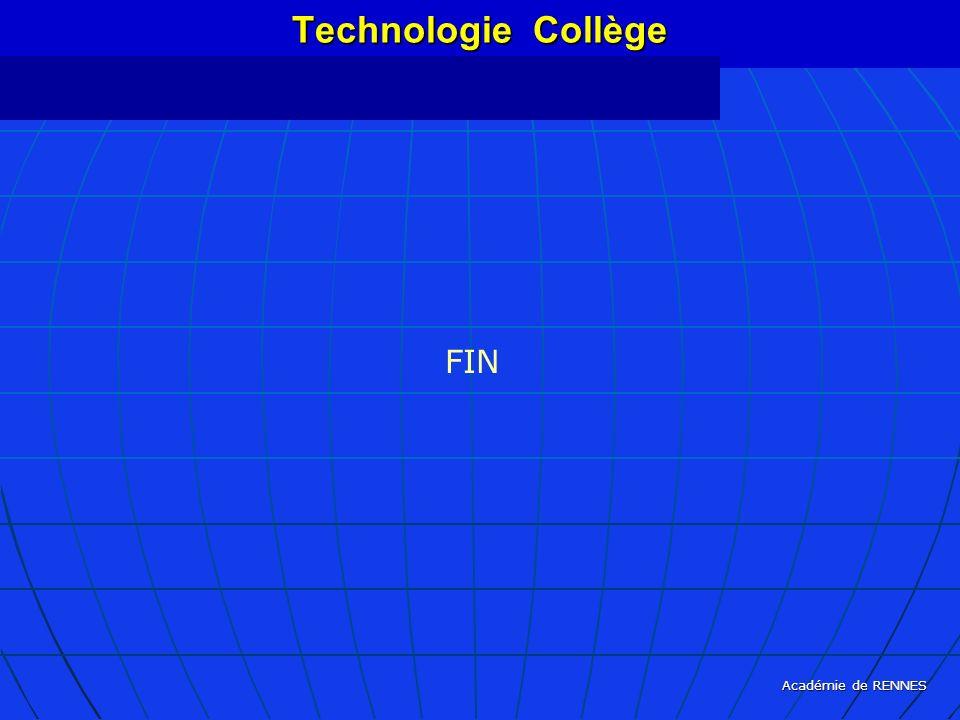 Académie de RENNES Technologie Collège FIN