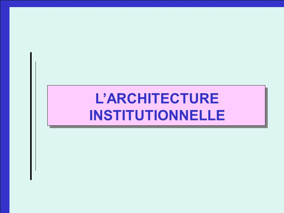 LARCHITECTURE INSTITUTIONNELLE