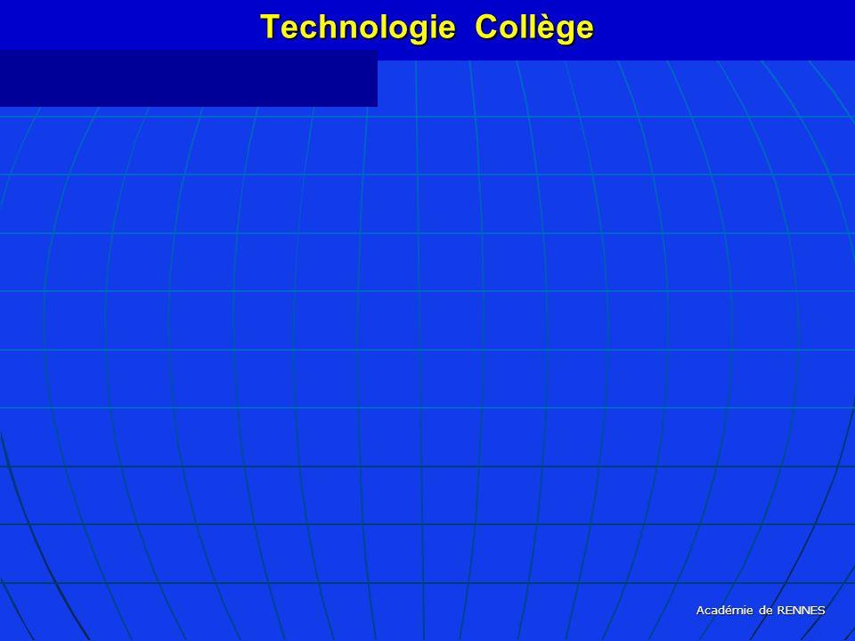 Académie de RENNES Technologie Collège