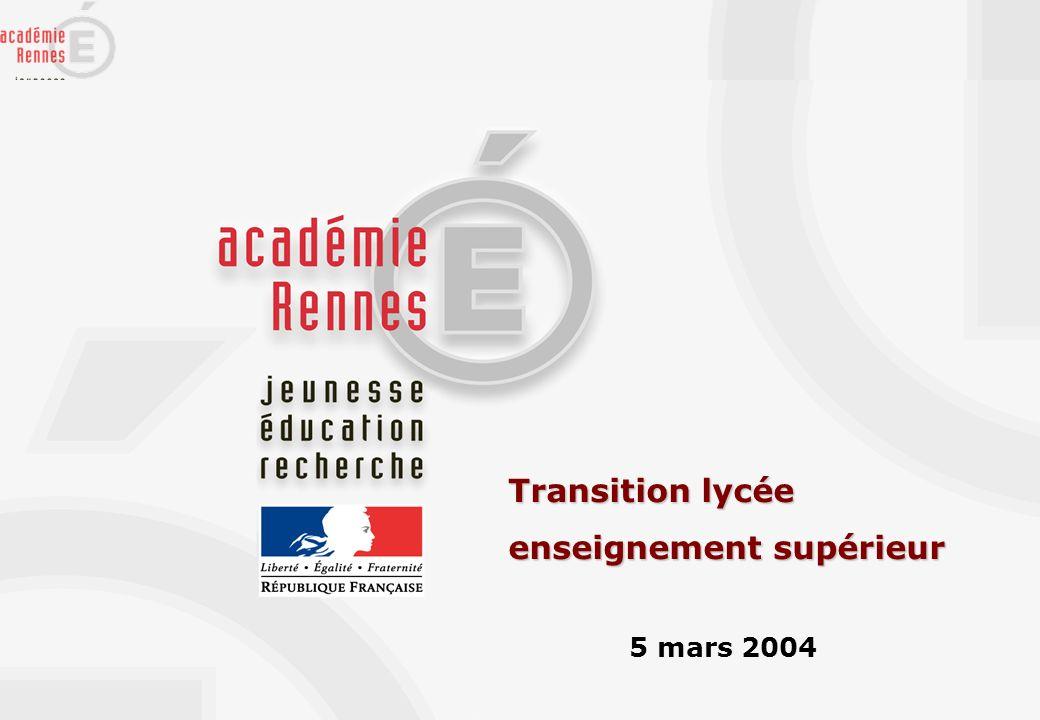 Transition lycée enseignement supérieur 5 mars 2004