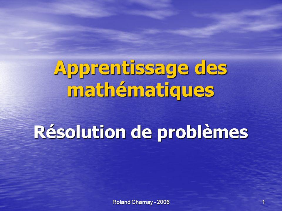 Roland Charnay - 2006 2 Quelques indicateurs sur les acquis des élèves