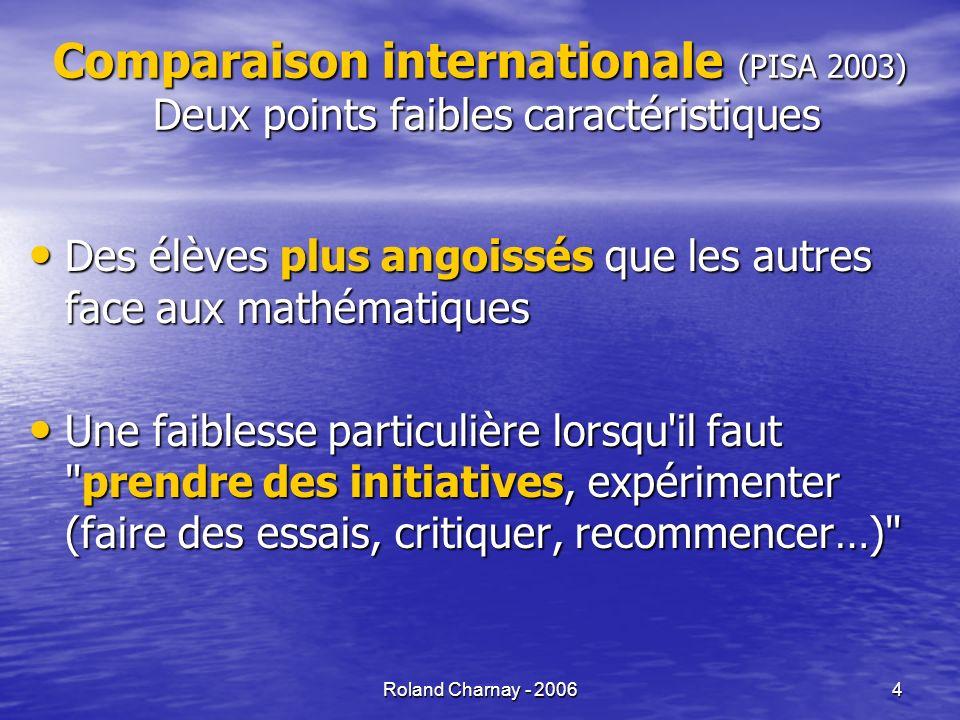 Roland Charnay - 20065 Evaluation PISA (élèves de 15 ans) Estimez laire de lAntarctique en utilisant léchelle de la carte.