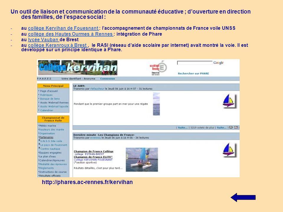 Etablir une passerelle vers dautres applicatifs Accès au webmail ou à des modules de formation (type Ganesha..