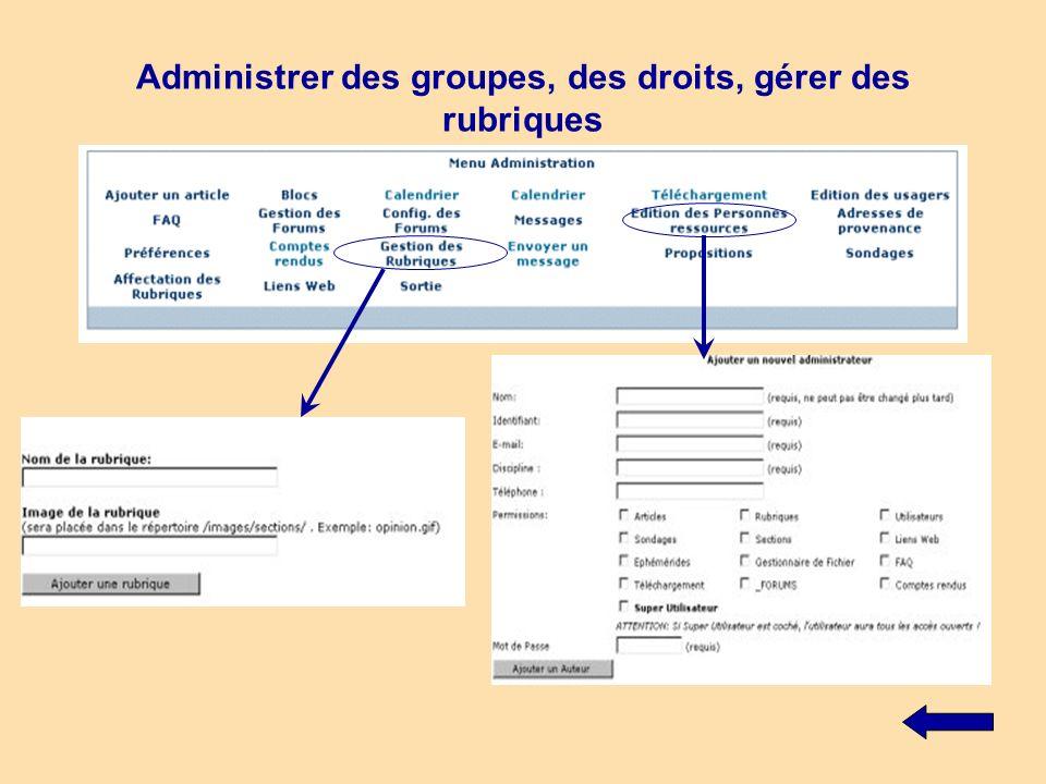 Publier des articles, partager des ressources (liens, téléchargements) Un petit éditeur wysiwyg de Microsoft est implémenté sur la plate-forme.