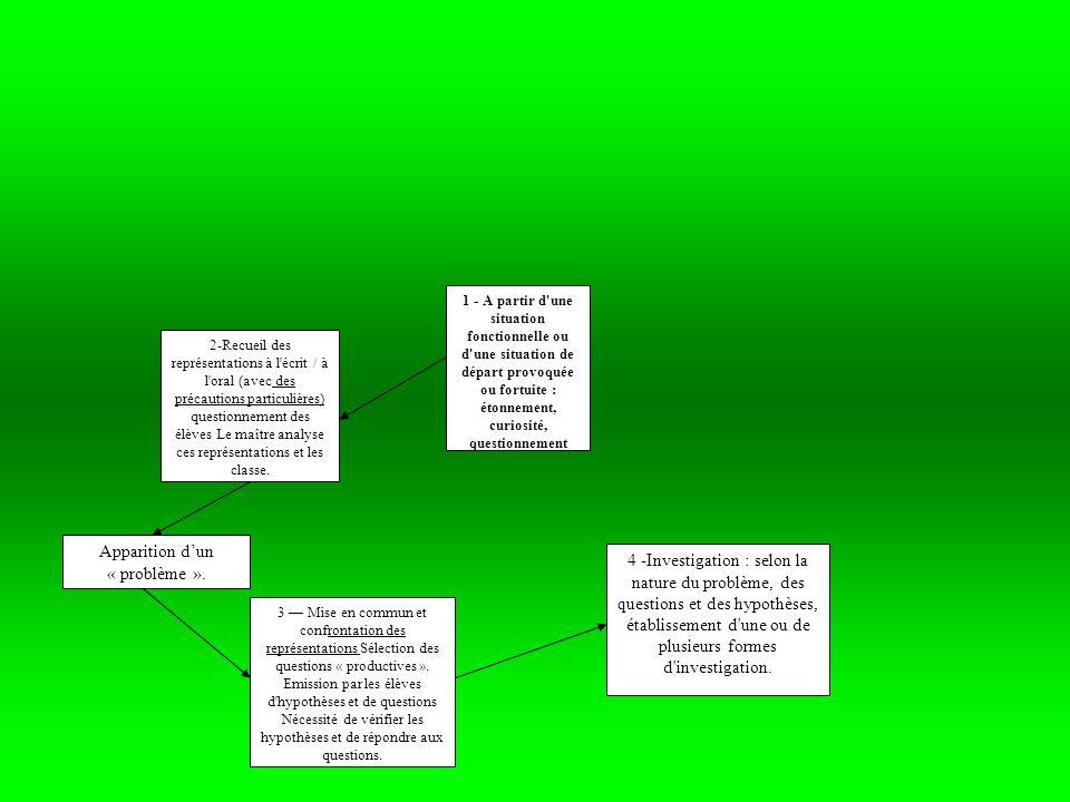 Expérimentation directe : prévoir le dispositif ; ne faire varier qu un paramètre à la fois ; prévoir une expérience témoin, préciser les résultats attendus ; recueillir les résultats par l observation ou la mesure ; comparer les résultats obtenus aux résultats attendus protocole expérimental/ schémas/ dessins/ résultats de lexperience/ recueil de données/ interprétation des résultats