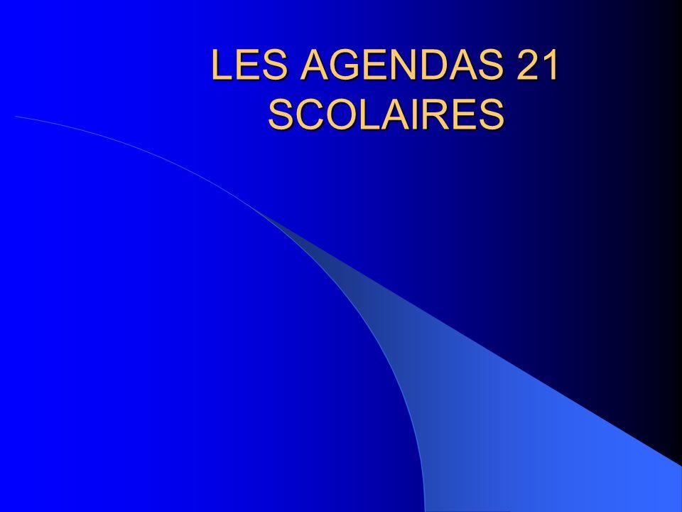 LES AGENDAS 21 SCOLAIRES
