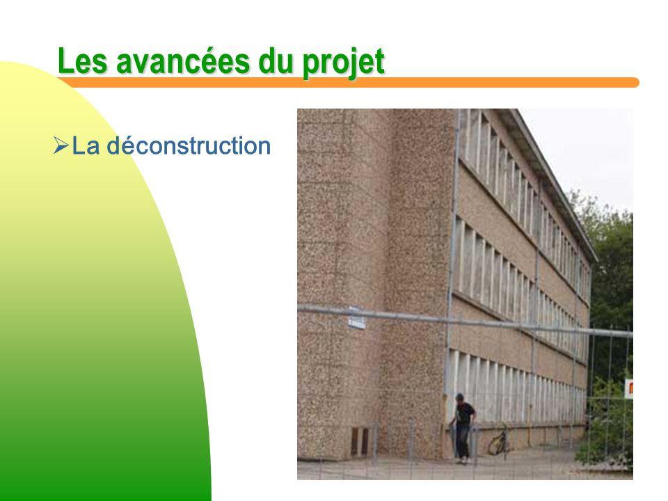 Les avancées du projet La déconstruction