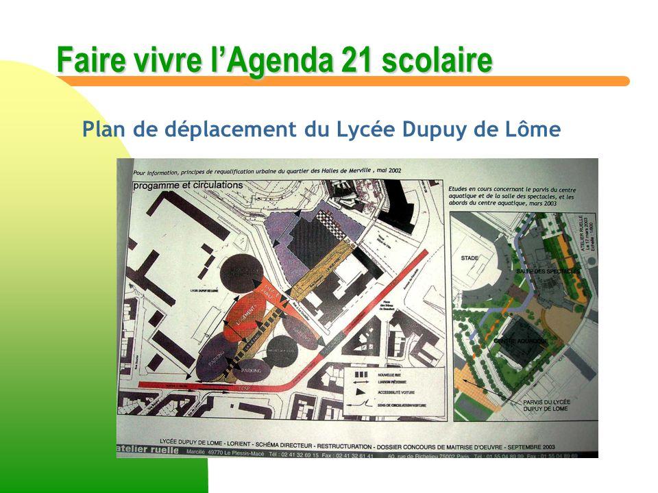 Plan de déplacement du Lycée Dupuy de Lôme