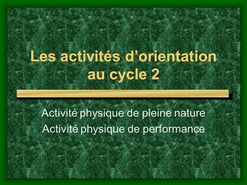 Référence aux Programmes 2008 Compétence spécifique n°2 Adapter ses déplacements à différents types denvironnements