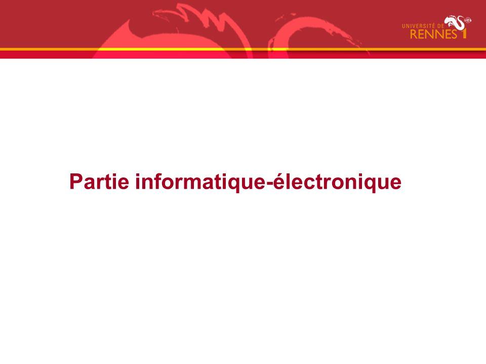 Partie informatique-électronique