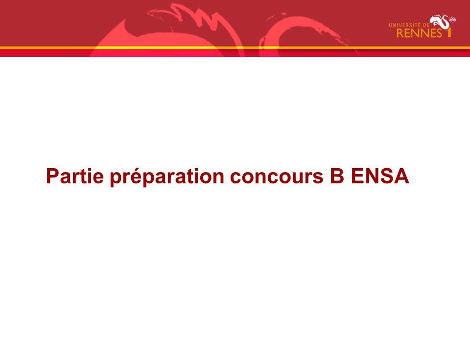 Partie préparation concours B ENSA