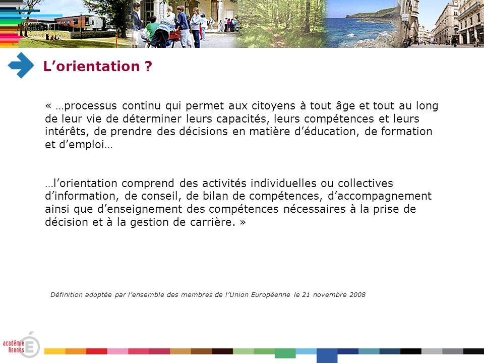 Lorientation .