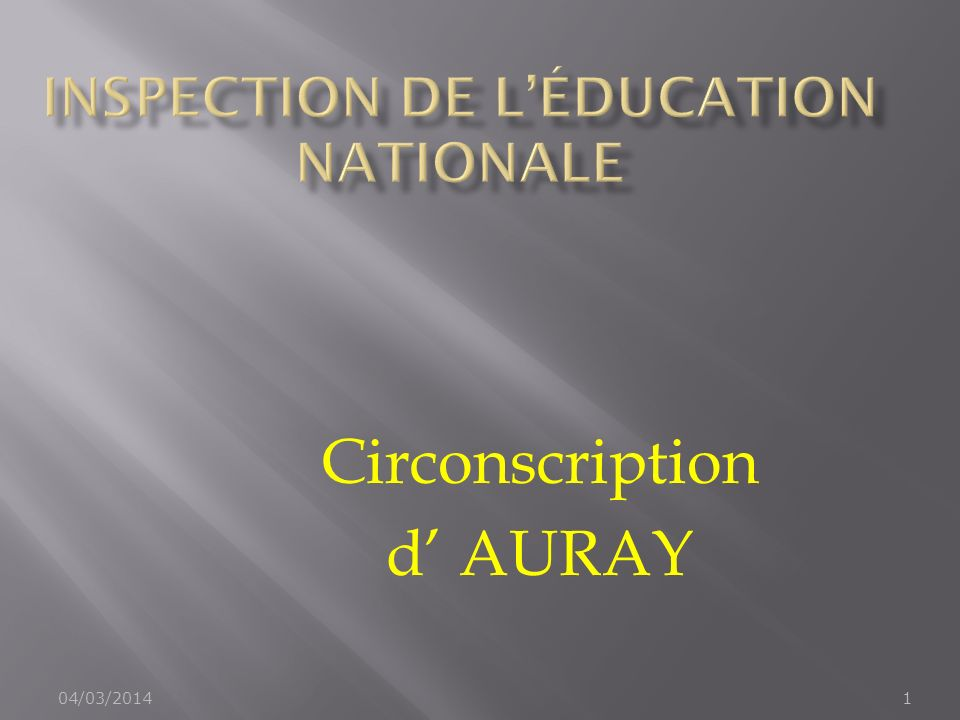 04/03/20141 Circonscription d AURAY