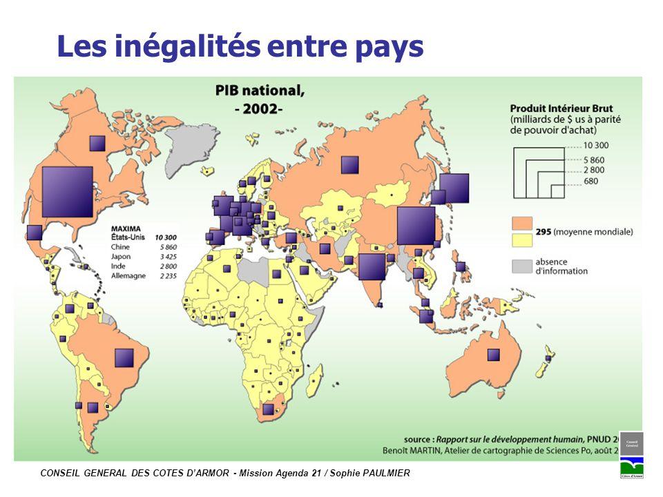 CONSEIL GENERAL DES COTES DARMOR - Mission Agenda 21 / Sophie PAULMIER Les inégalités entre pays