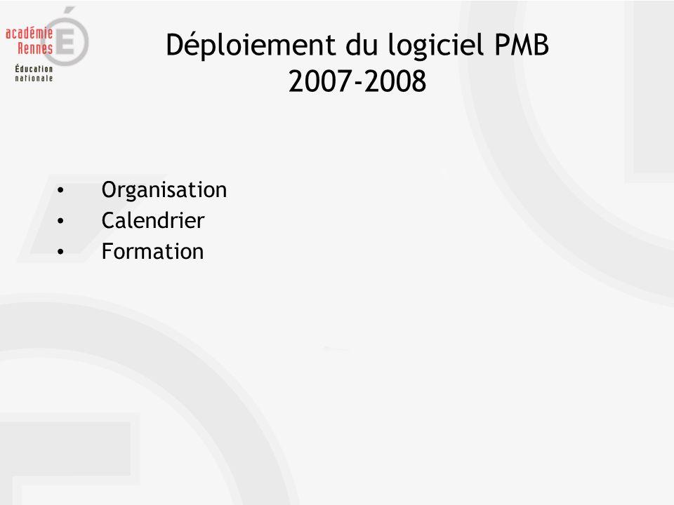 Organisation – Calendrier – Formation Un accès via lENT Tout@tice Agenda Ressources numériques Gestion documentaire Menu de la cantine https://www.toutatice.fr/pmb3
