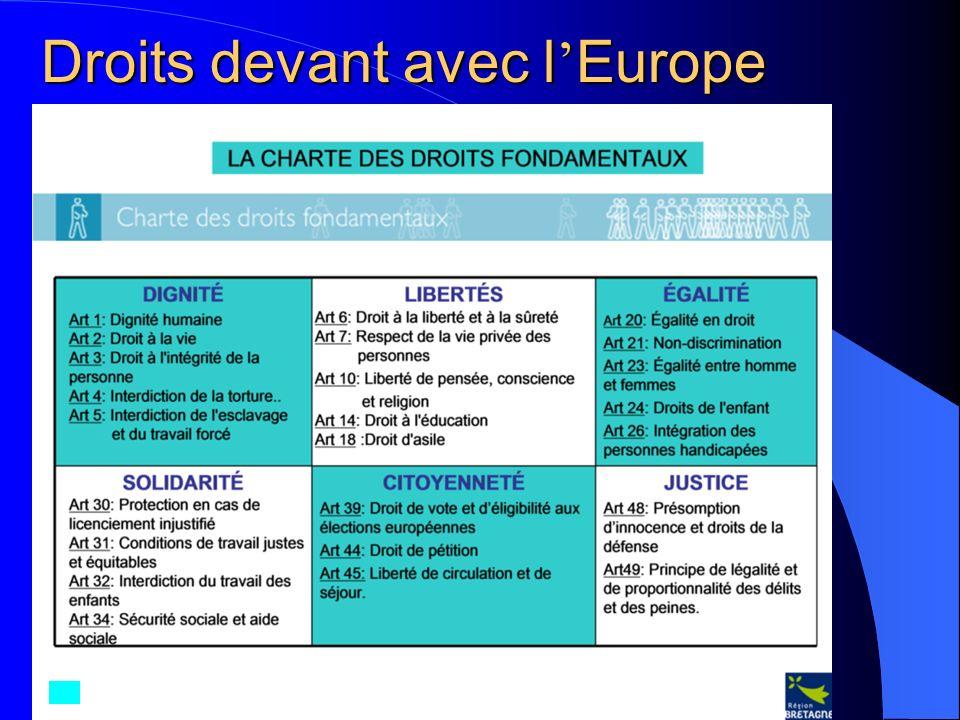 Droits devant avec l Europe