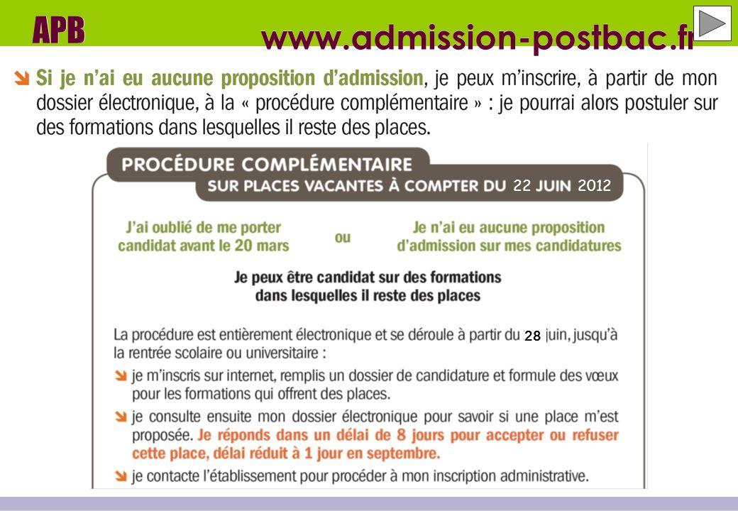 www.admission-postbac.fr APB 222012 28