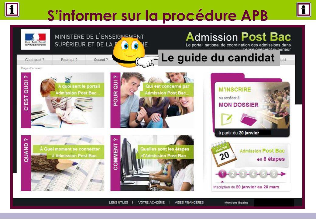 Sinformer sur la procédure APB Le guide du candidat