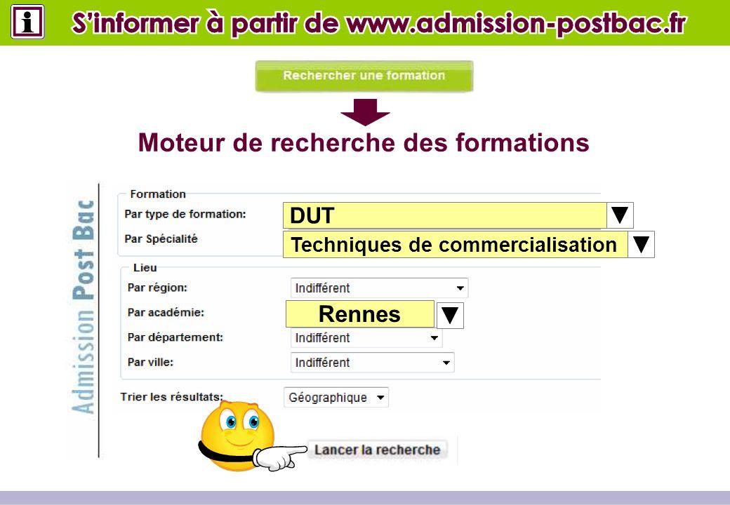 DUT Techniques de commercialisation Poitiers Moteur de recherche des formations Rennes