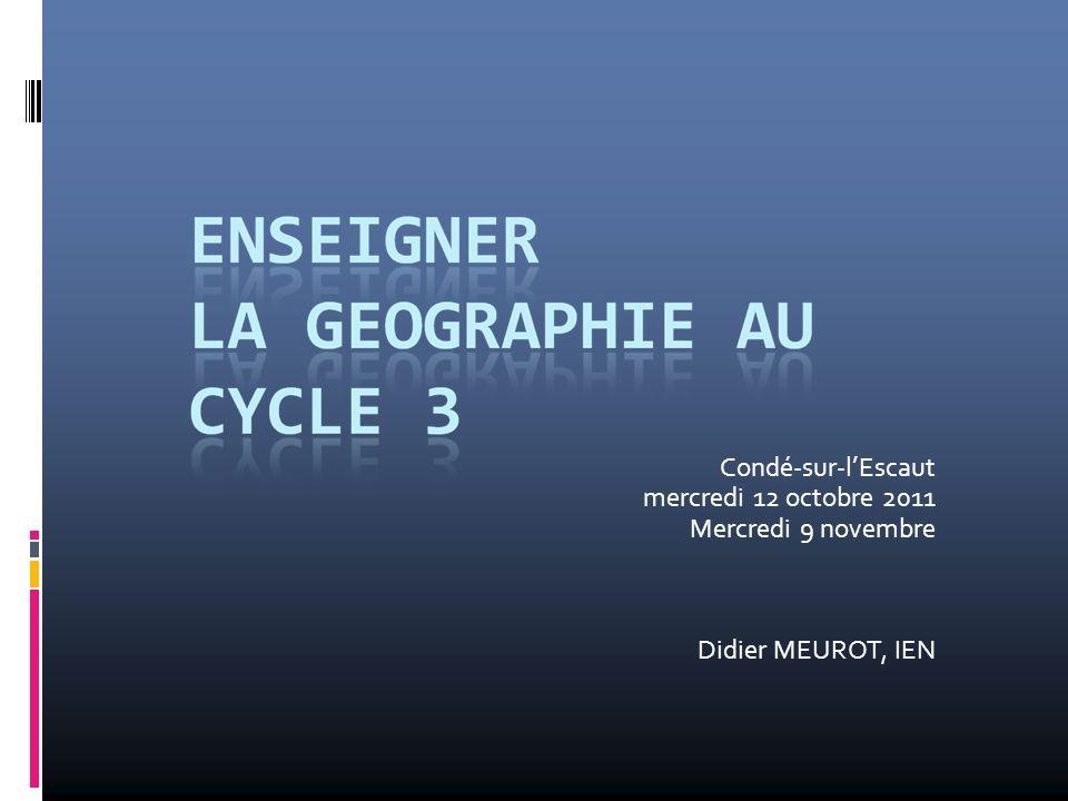 Condé-sur-lEscaut mercredi 12 octobre 2011 Mercredi 9 novembre Didier MEUROT, IEN
