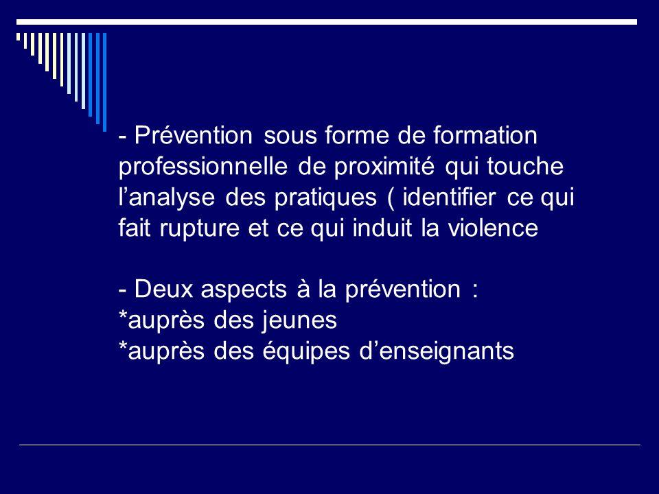 Légitimité Comment légitimer cette forme de prévention.