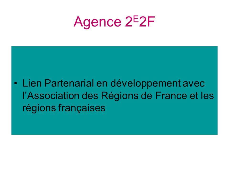 Agence 2 E 2F Lien Partenarial en développement avec lAssociation des Régions de France et les régions françaises