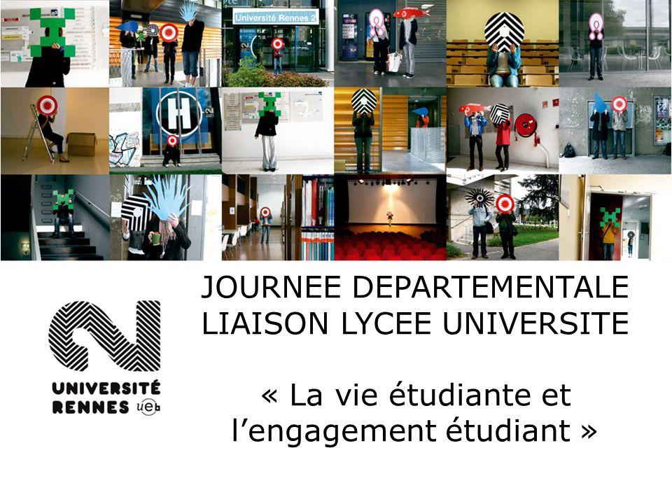 JOURNEE DEPARTEMENTALE LIAISON LYCEE UNIVERSITE « La vie étudiante et lengagement étudiant »