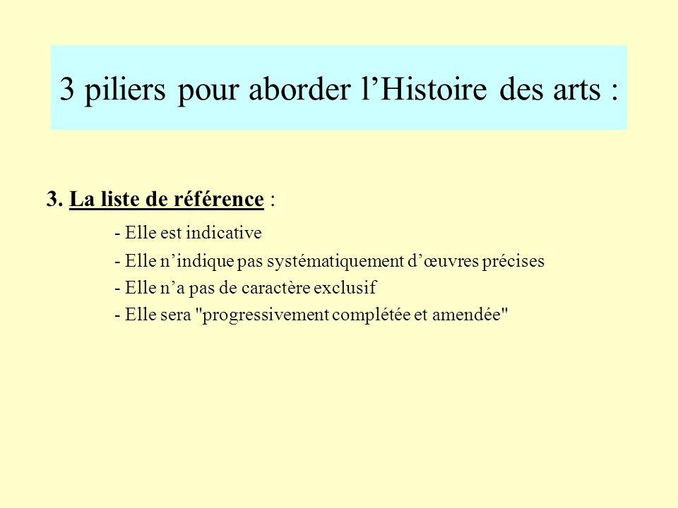 3 piliers pour aborder lHistoire des arts : 2. Les périodes historiques : - De la préhistoire à lAntiquité gallo-romaine - Le Moyen-Âge - Les Temps mo