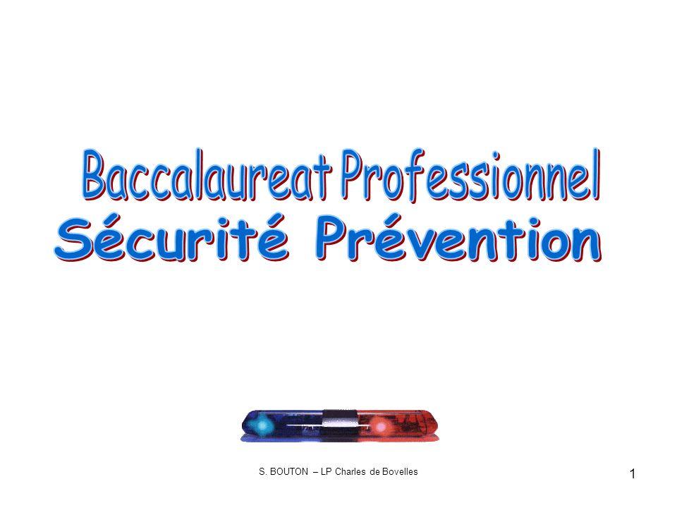 2 Le Baccalauréat Professionnel Sécurité Prévention prépare à lexercice des différents métiers de la sécurité.