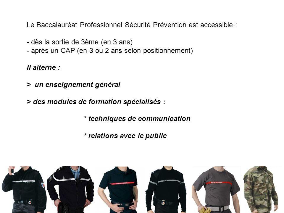 S. BOUTON – LP Charles de Bovelles 4 Le Baccalauréat Professionnel Sécurité Prévention est accessible : - dès la sortie de 3ème (en 3 ans) - après un