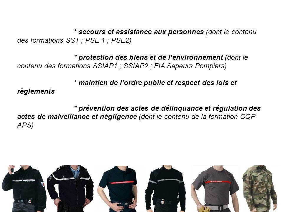 S. BOUTON – LP Charles de Bovelles 5 * secours et assistance aux personnes (dont le contenu des formations SST ; PSE 1 ; PSE2) * protection des biens