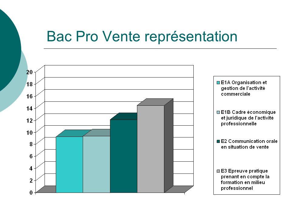 Bac Pro Vente représentation
